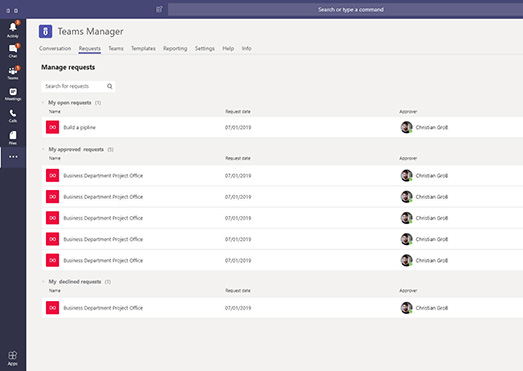 Request & approval workflow in Microsoft Teams